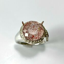 5ct Natural Strawberry Quartz With Hematite 925 Silver / 9ct 14k 18k Gold Ring