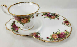Royal Albert Old Country Roses Snack Luncheon Dessert Plate And Teacup