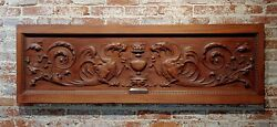 19th Century Carved Over-door Wooden Panel With Griffin Figures