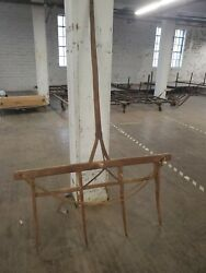 1800s 7ft Primitive Wood Farm Fork Antique Equipment Hay Museum Quality Early