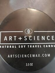 Natural Soy Travel Candle long burn Time by Art Science Free Shipping 3.5 oz