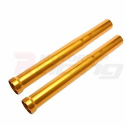 Golden Outer Front Fork Tubes Pipes For Suzuki Tl1000r 1998-2001 1999 2000 500mm
