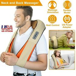 Shiatsu Pillow Neck And Back Massager Deep Kneading Electric Back Shawl With Heat