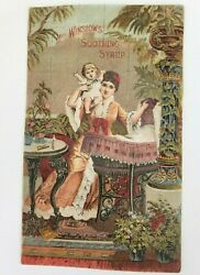Antique Mrs Winslows Soothing Syrup May 1885 To May 1886 Calendar Card
