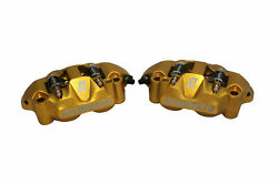Pair Radial Brakes Calipers Accossato Forged Monoblock Pistons 108 Mm Pz004y-st