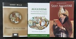 Saint Augustine Book Lot 3 Day By Day, For Armchair Theologizns Catholic