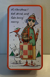 """Shoebox Maxine Christmas Tin """"eat Drink And Fake Be Merry"""" Collectible Tin"""