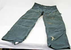 Vintage B01 Black 30 X 32 Double Knee Pants Made In Usa Distressed Worn