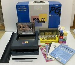 Riso Print Gocco Pg-11 Screen Printing Machine 5 Lamps 5 Masters And More Used
