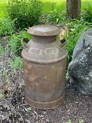 Vtg Antique Milk Can Dairy Farm E.e. Runkles Mt. Airy Maryland Md Brass Plates