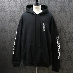 Chrome Hearts Sleeve Logo Print Pullover Hoodie/scroll Label
