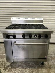 36 Gas Range 6 Open Flame Burners Grates And Std Oven Base Stratus Sr-6 5974