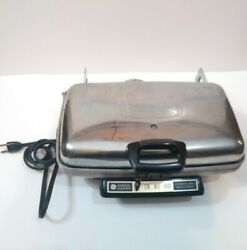 General Electric Grill/waffle Iron 14g44 Vintage - Tested, Works