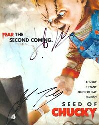 Seed Of Chucky 8x10 Color Photo Signed By Brad Dourif And Jennifer Tilly