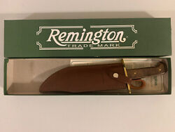 Remington 19989 Heritage 700 Bowie Rh-51 Fixed Blade Knife With Leather Sheath