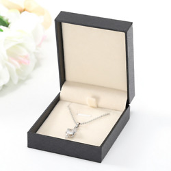 360 Leather Pendant Necklace Box Jewelry Black Mother's Day Graduation Gift Box