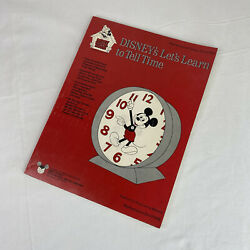 Vintage 1979 Disney School House Letand039s Learn To Tell Time Educational Media Book