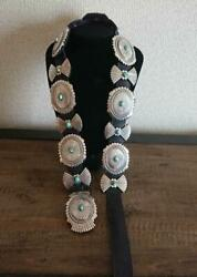 Darryl Becenti Navajo Indian Jewelry Concho Turquoise Silver Belt