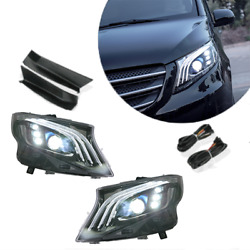 For Benz Metris Led Headlamps Led Drl Replace Oem Halogen Sequential 2016-2020