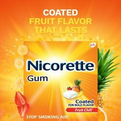 Nicorette Nicotine Gum To Stop Smoking Fruit Chill Flavor 4 Mg 160 Count