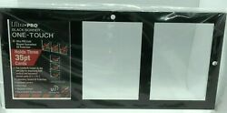Ultra Pro 3 Card Black Border Magnetic One Touch Display 35pt Card Holder NEW
