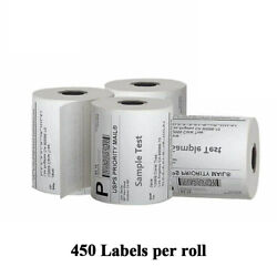 450 Per Roll 4x6 Direct Thermal Labels For Zebra 2844 Zp450 Zp500 Eltron Ups