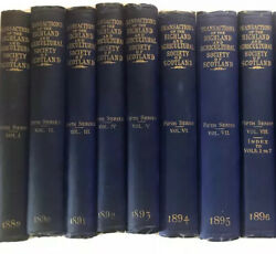 1889-1896 Lot 7 Antique Book The Highland And Agricultural Society Of Scotland
