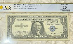 1 1957 Silver Star Certificate Fr. 1619 Pcgs Very Fine 25 One Of Five Notes