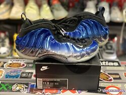 nike air foamposite one blue mirror size 11.5 vintage vtg authentic rare used
