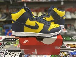 Ds Brand New Nike Dunk High Sp 2020 Michigan Size 9 Authentic Rare Vintage Vtg