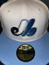 7 5/8 Montreal Expos White/sky Blue 1982 All Star Game Grey Bottom Fitted Hat