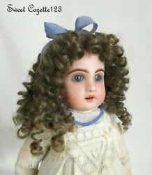 Doll Wig New Old Store Stock Size 7-8 Light Brown For Antique Dolls Jumeau Bru