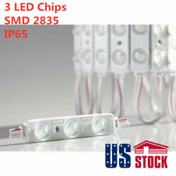 Smd 2835 Waterproof Led Module 3 Leds Window Store Front Light Us Stock