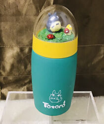 Totoro My Neighbor Aqua Teal Stainless Steel Travel Thermos W/cute Dome Top Htf
