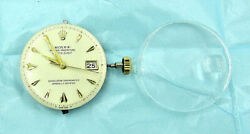 Vintage Rolex Movement Dial And Crystal 1030 - Keeps Time - Excellent Working Cond