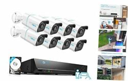 4k Security Camera System H.265, 8pcs 8mp Person/vehicle Detection Smart
