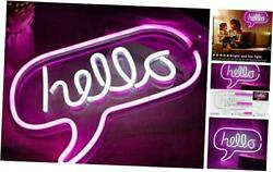 Led Neon Signs For Room Decor - Art Neon Light Used For Wall Decor, Hello-pink