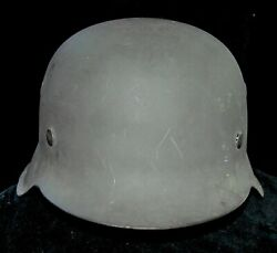 World War Two Vet Bring Back, German Helmet From The Store Room Never Used M