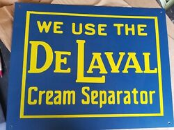Delaval Cream Separator Sign Made Of Metal. Advertising Sign