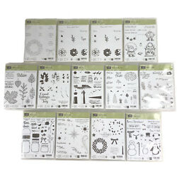 Lot Of 206 Stampin Up Assorted Clear Unmounted Stamps - New In Box Unused