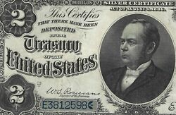 1891 2 Windom Silver Certificate Fr 245 Pmg 40 = Extremely Fine = Beauty