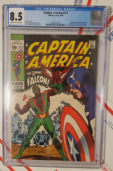Captain America 117 💥 First Appearance The Falcon Modok Red Skull Cgc 8.5 Wow