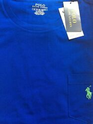 Polo Ralph Lauren Men#x27;s Classic Fit Solid Crewneck Tee T Shirt WITH POCKET