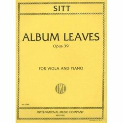 Sitt Hans - Album Leaves Op 39 For Viola And Piano Brand New