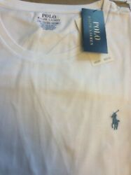 Polo Menand039s White Slim Fit Solid Crewneck Tee T-shirt