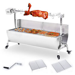 46 Large Stainless Steel Bbq Lamb Goat Pig Chicken Spit Roaster Rotisserie Spit