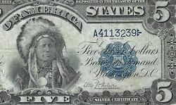 1899 5 Silver Certificate Indian Chief Fr 271 Pmg Very Fine-20 = 7-digit S/n