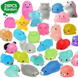 28pcs Mochi Squishys Toys 2nd Generation Party Favors For Kids Birthday