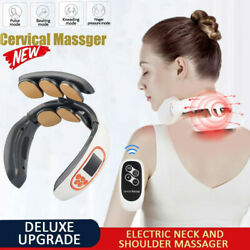 Cervical Neck Massager Electri Magnetic Pulse Therapy Body Shoulder Musle Relief