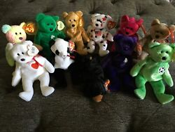 Lot Of 11 Ty Beanie Babies Nos Shop Owner With Tags Princess Diana With Error